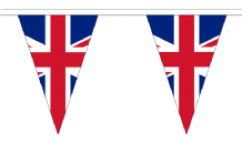 Union Jack Triangular Flag Bunting - 20m Long - 54 Flags
